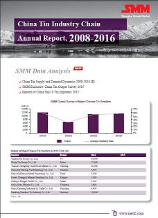 China Tin Industry Chain Annual Report,2008-2016